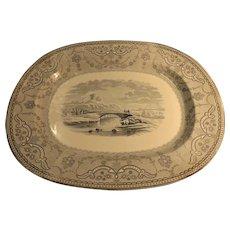 1857 Copeland Large Victorian Serving Platter - England