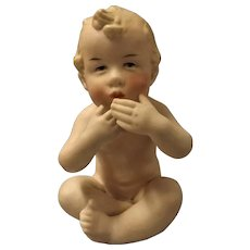 Bisque Porcelain Nude Baby Boy - Germany Circa 1900