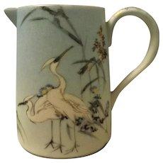 Japanese Fine Porcelain CRANES Jug - Circa 1900 - 1910