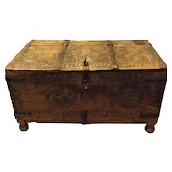 Anglo-Indian Hand Carved Small Chest - Circa 1890 - 1910
