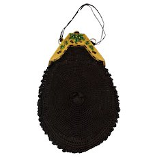 Victorian Hand Crocheted Purse