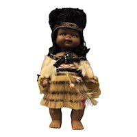Maori Wahine Vintage Doll- New Zealand