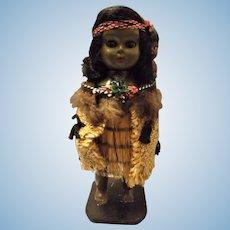Maori Wahine with Pepe Souvenir Doll