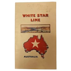White Star Liner  T.S.S. CERAMIC  1926 Booklet & Passenger List