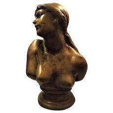 Georgian Neoclassical Bronze Nude Bust