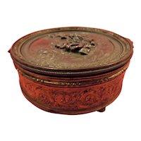 French Small Bronze Napoleon III Style Trinket Box  - Circa late 1800's