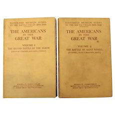 The Americans In The Great War - In Two Volumes - Michelin Guides 1919