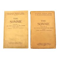 THE SOMME In Two Volumes -  Illustrated Michelin Guides 1919