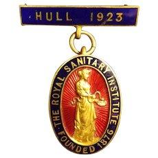 Royal Sanitary Institute Badge - Hull 1923