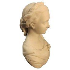"Splendid Victorian ""Neo Classical"" Parian Ware Bust"