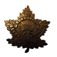 Canada World War One Army Badge - Nova Scotia 25th Overseas Battalion