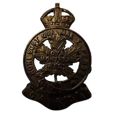Canada World War One Army Badge - Royal Montreal Regiment