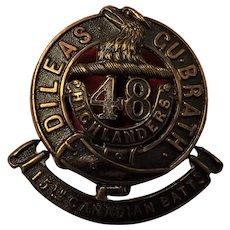 Canada World War One Army Badge - 15th Canadian Battalion