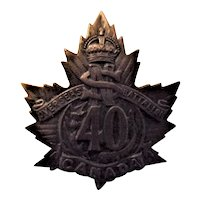 Canada World War One Army Badge - 40th  Nova Scotia Overseas Battalion