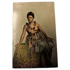 "Early 1900's Postcard ""Samoan Woman"""