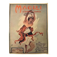 "PACIFICA Sheet Music 1916 -""Maori - A Samoan Dance"""