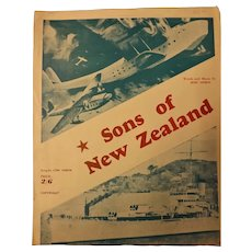 """Sons Of New Zealand"" WWII Patriotic Sheet Music"
