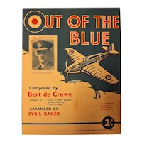 """Out Of The Blue"" WWII Patriotic Sheet Music"