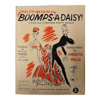 """Boomps-A-Daisy WWII Era Sheet Music"