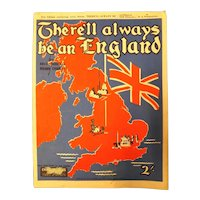 """There'll Always Be An England"" WWII Patriotic Sheet Music"