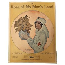 """Rose Of No Man's Land"" WW ONE Patriotic Sheet Music"