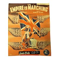 """The Empire Is Marching"" WWII Patriotic Sheet Music"
