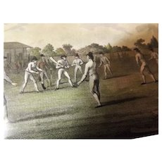 Victorian Lord's  Cricket Match Engraved Print