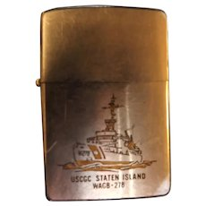 US NAVAL Zippo Lighter For Icebreaker 'USCGC Staten Island WAGB -278