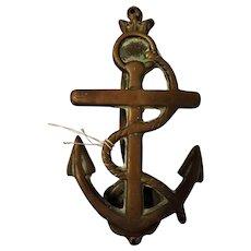 "Antique Brass ""Anchor"" Door Knocker"