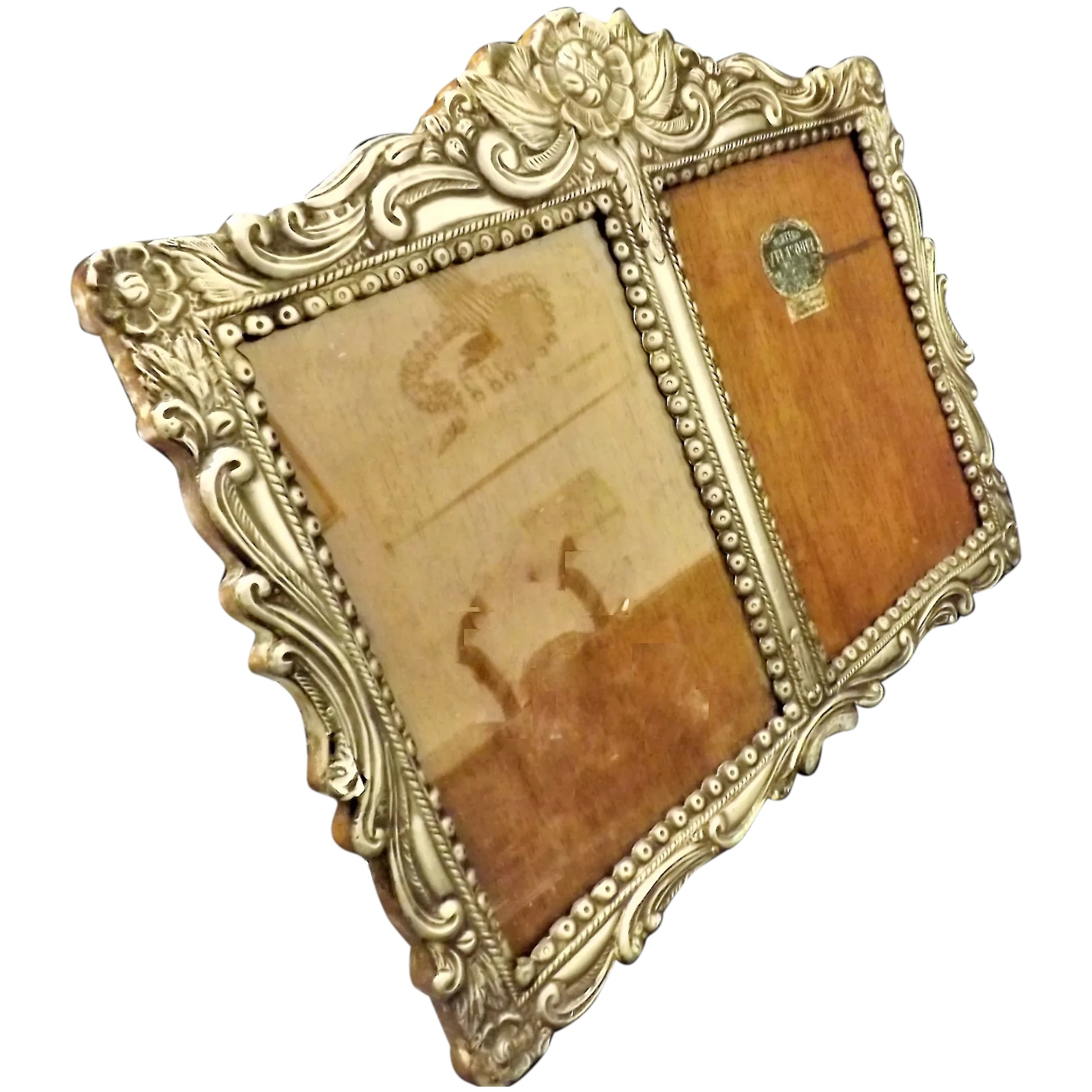 Peruvian .925 Velasquez Silver Colonial Style Photo Frame - Early 1900's