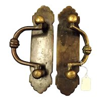 A Pair of Rustic Early 1900's Door Pulls