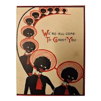 """Black Americana Christmas Card """"We're All Come To Greet You"""""""