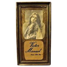 "Original Art Nouveau ""Victor Manuel Piano Club Bar"" Advertising"