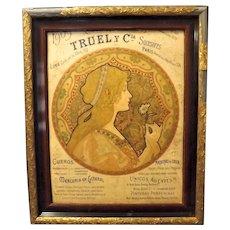 """Original 1909 Art Nouveau """"TRUEL Y. Cie"""" Department Store  Advertisement - Jane Atche"""
