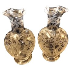 Victorian AESTHETIC  Movement Pair of Scottish Hand Made Decanters