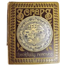 Superb English Victorian Era Scrapbook -  Circa 1890