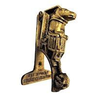 Edwardian Small Door Knocker 'Fox in the Pulpit'