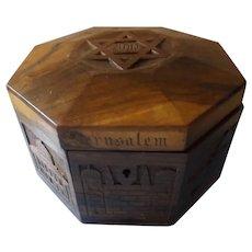 Antique Jerusalem Trinket Box Souvenir -  Judaism Circa 1900
