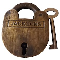 "Padlock ""Tasmanian Government Railways"" Circa Early 1900's"