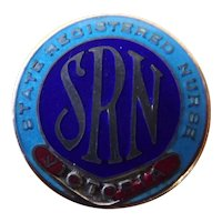 "Rare  1932 Australian ""State Registered Nurses - Victoria"" Badge"