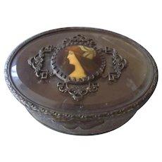 Fabulous Small Art Nouveau Trinket Box Circa 1890-1910
