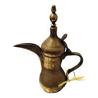 Antique Turkish Brass Coffee Pot
