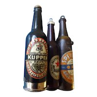 A Selection of Three Vintage Collectible Advertising Mini Beer Bottles