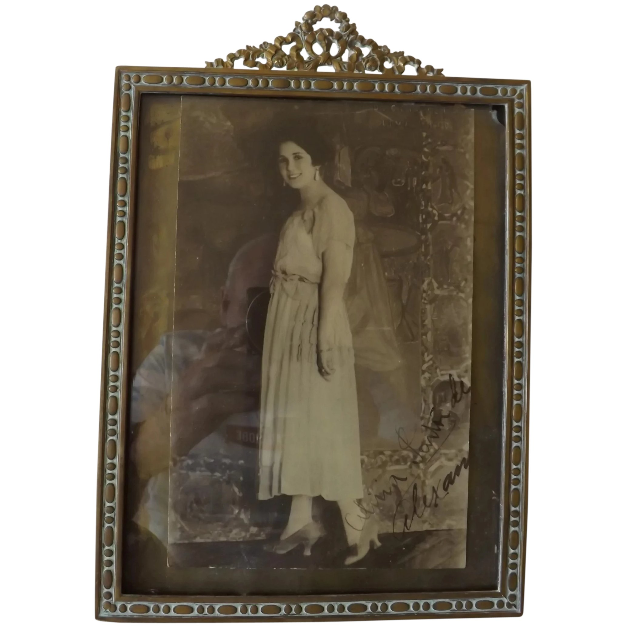 French Bronze Empire Style Photo Frame