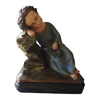 Child Jesus Ceramic Statuette - France Circa 1900