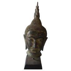 Vintage Javanese Bronze Buddha Head