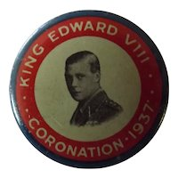 Edward VIII 1937 Coronation Tin Badge