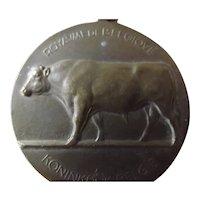 "Belgium 1954 Bronze ""Ministere De L'Agriculture"" Medal"