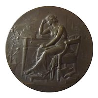 "French Bronze Medallion -""Comite De Vaccine"" -1900"