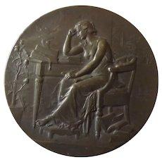"""French Bronze Medallion -""""Comite De Vaccine"""" -1900"""
